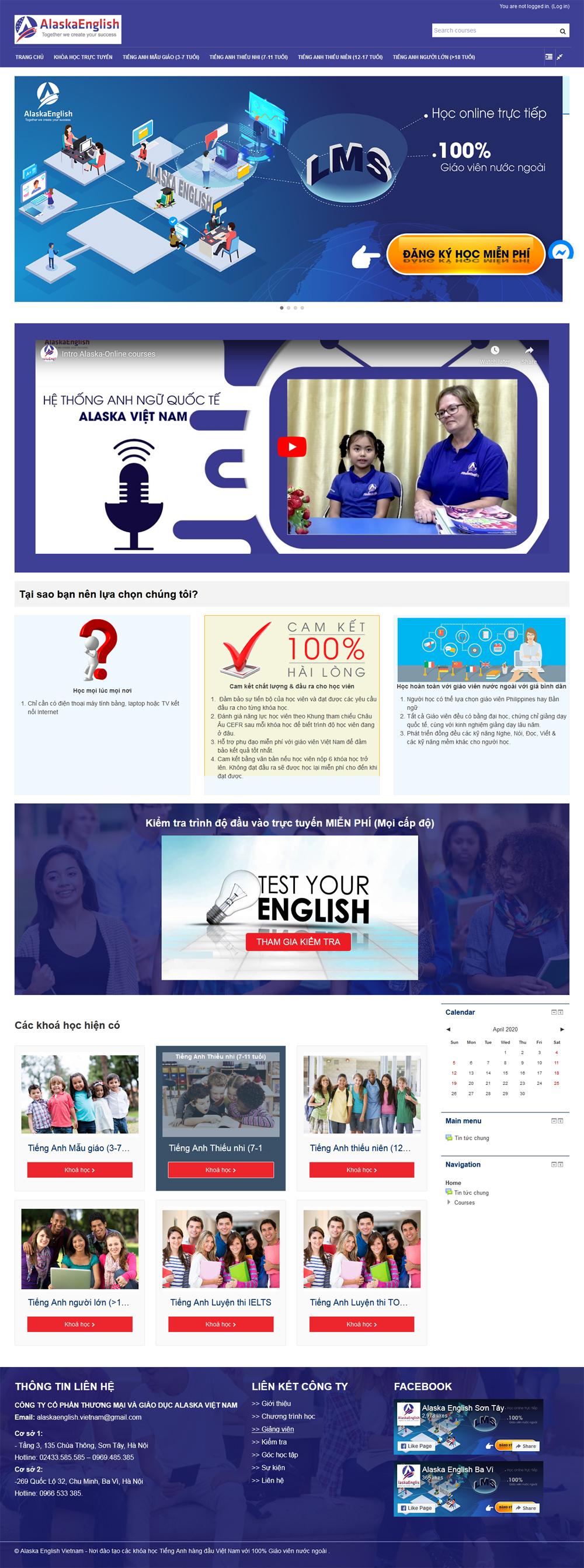 Thiết kế website E-Learning trên moodle